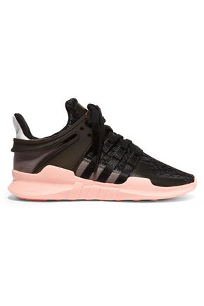 ADIDAS ORIGINALS Suede and stretch-knit sneakers