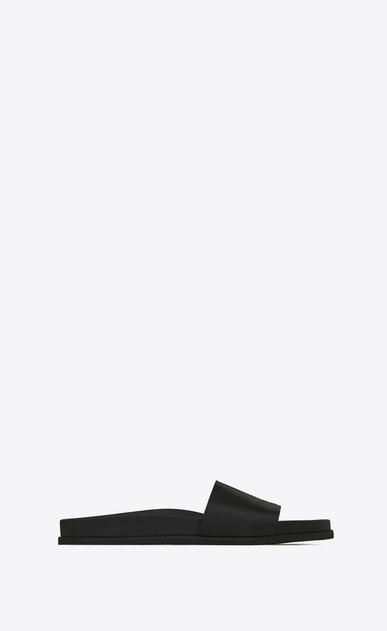 joan 05 slippersandale aus schwarzem leder