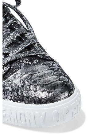 Print SneakersOpening Snake Sale Metallic Leather Ceremony Up v80ywOnmN
