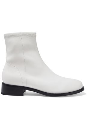 Dani Stretch Leather Ankle Boots by Opening Ceremony