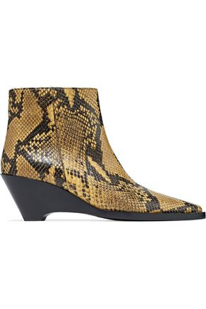 ACNE STUDIOS Corny snakeskin ankle boots