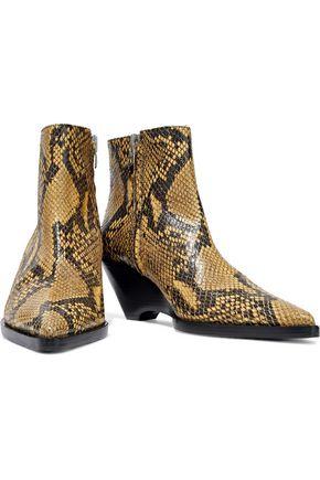 ACNE STUDIOS Corny snakeskin ankle boots
