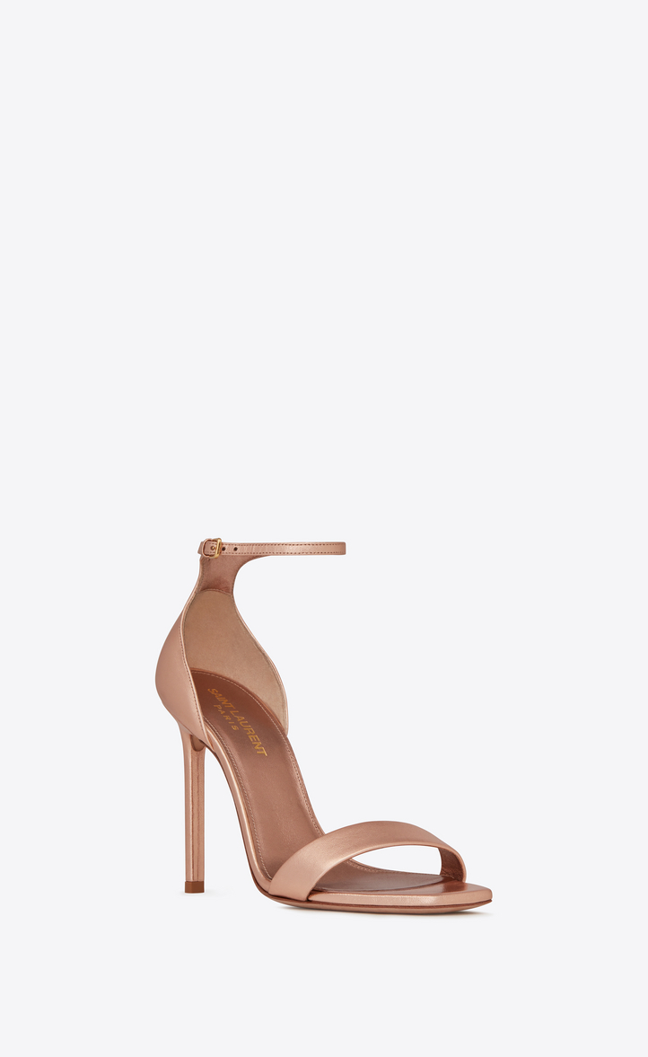 45695e62b254 Saint Laurent Amber Sandals In Metalized Leather