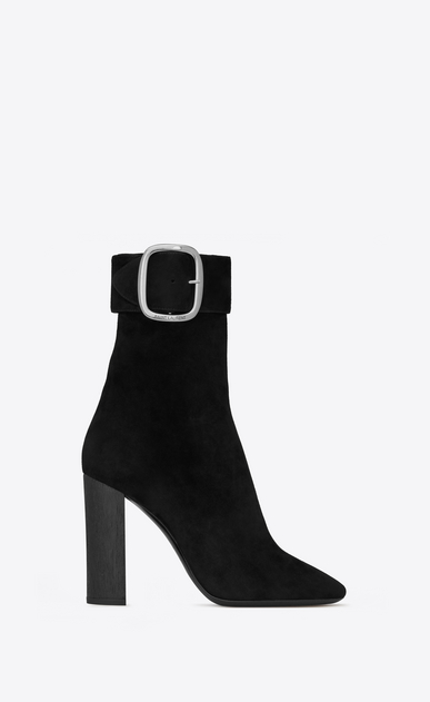 SAINT LAURENT Boots Woman joplin buckle bootie in suede a_V4