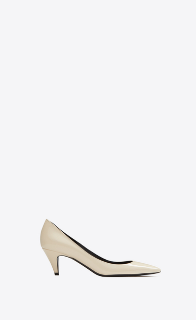 SAINT LAURENT Charlotte pump Woman charlotte kitten heel in patent leather a_V4