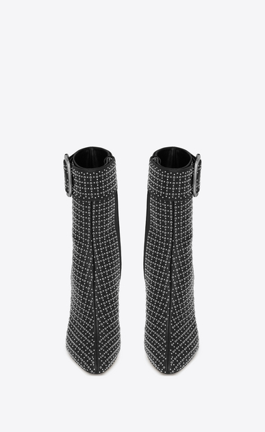 SAINT LAURENT Boots Woman joplin buckle bootie in leather all over eyelets b_V4