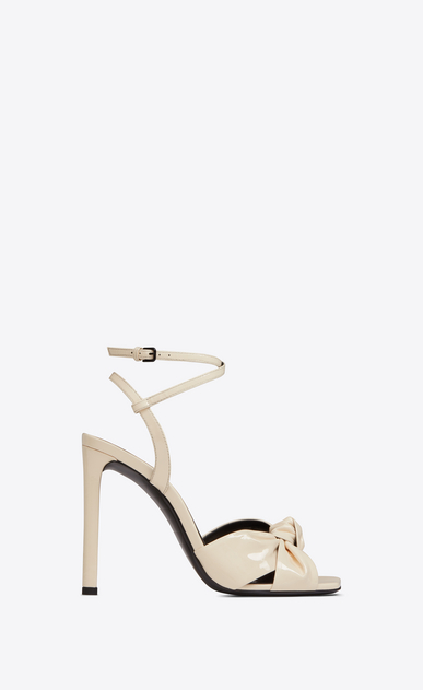 SAINT LAURENT Sandals Woman amy sandal in patent leather a_V4