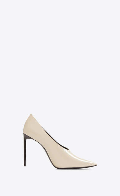 SAINT LAURENT Pumps Woman teddy pump in patent leather a_V4