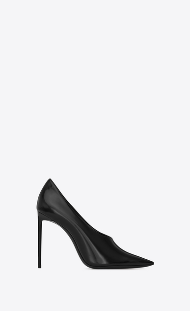 SAINT LAURENT Pumps Woman teddy pump in shiny leather a_V4