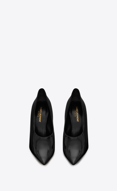 SAINT LAURENT Pumps Woman teddy pump in shiny leather b_V4