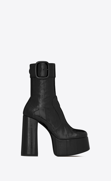 SAINT LAURENT ブーツ レディース billy platform bootie in eel a_V4