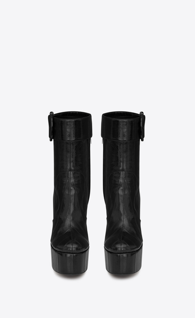 SAINT LAURENT ブーツ レディース billy platform bootie in eel b_V4
