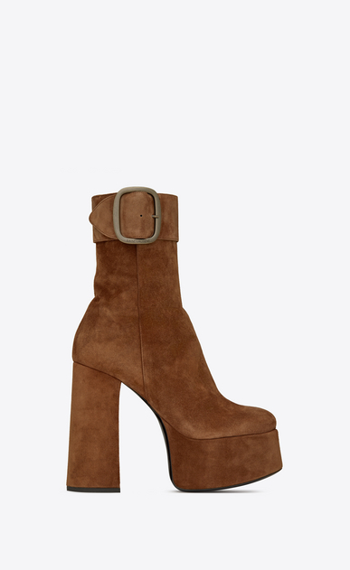 SAINT LAURENT Boots Woman billy platform bootie in suede a_V4