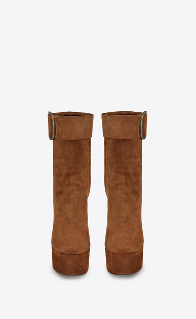 SAINT LAURENT Boots Woman billy platform bootie in suede b_V4