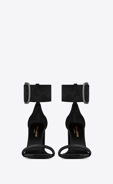 SAINT LAURENT Loulou Woman loulou buckle sandal in suede b_V4