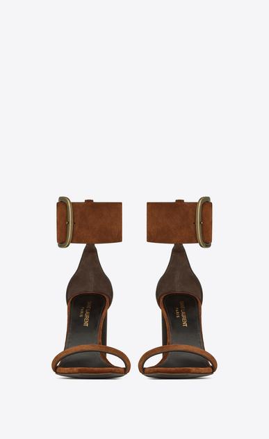 SAINT LAURENT Loulou Donna Loulou sandalo con fibbia in suede b_V4