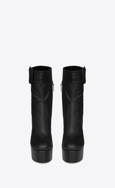 SAINT LAURENT ブーツ レディース billy platform bootie in leather b_V4