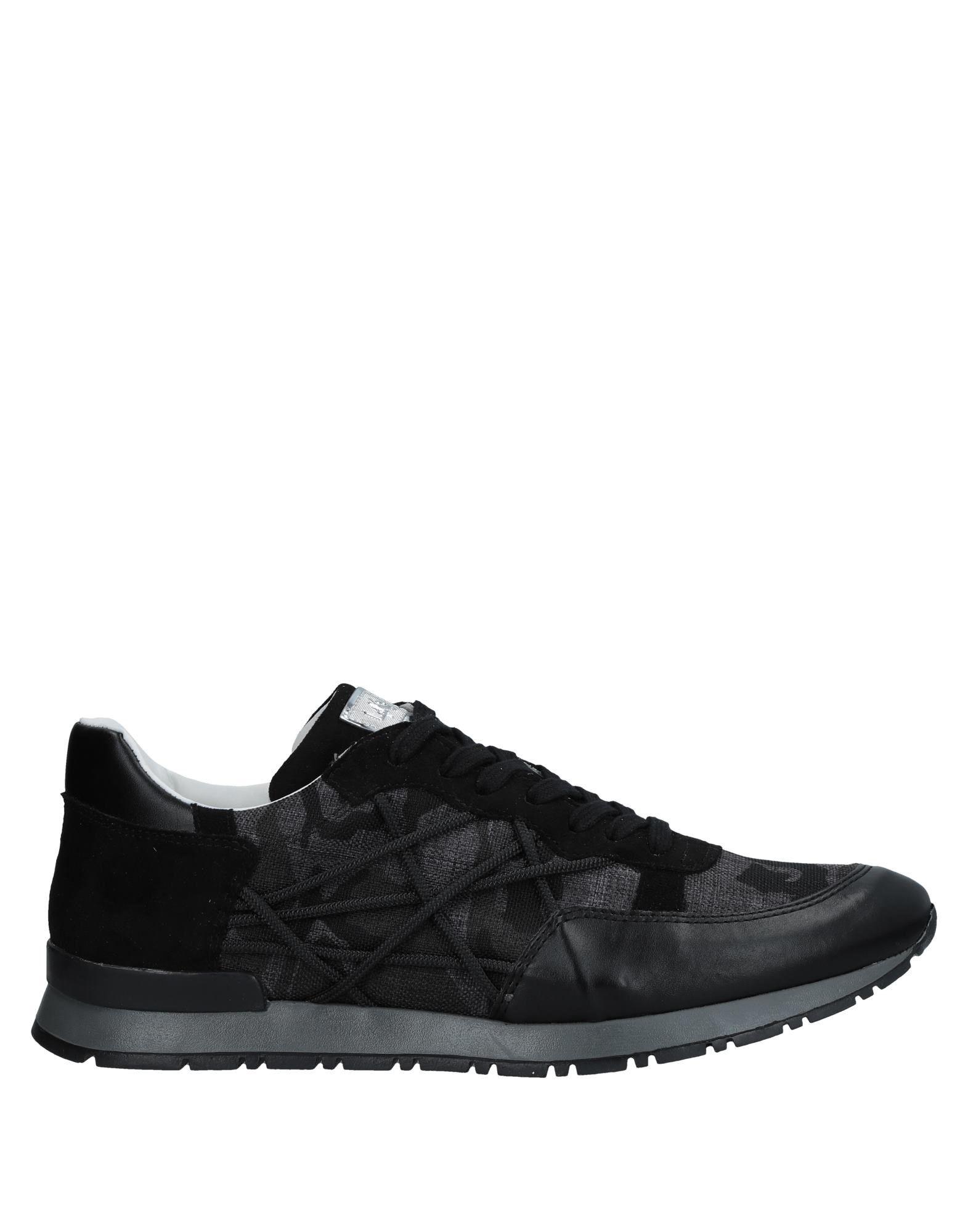 《送料無料》L4K3 メンズ スニーカー&テニスシューズ(ローカット) ブラック 39 ゴム 紡績繊維