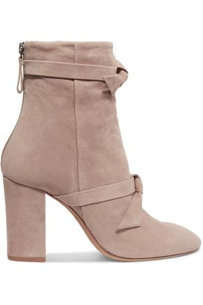 ALEXANDRE BIRMAN Bow-embellished suede ankle boots