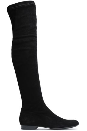ROBERT CLERGERIE Fissaj stretch-suede over-the-knee boots