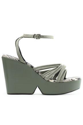 b5ee14d5e3b3 ROBERT CLERGERIE Suede wedge sandals
