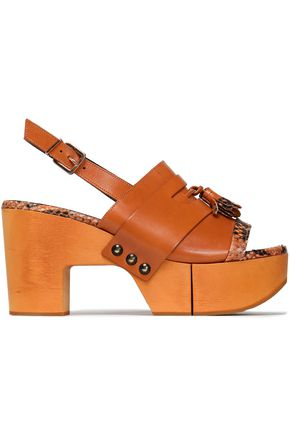 ROBERT CLERGERIE Tasseled leather platform sandals