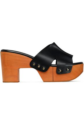 ROBERT CLERGERIE Leather platform mules
