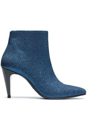 ROBERT CLERGERIE Textured-lamé ankle boots
