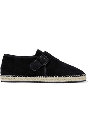 OPENING CEREMONY Buckle-detailed suede espadrilles