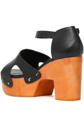 ROBERT CLERGERIE Cevina leather platform sandals