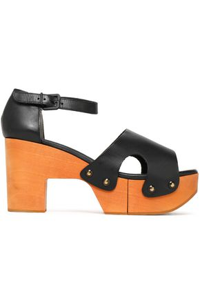 ROBERT CLERGERIE Cevina leather platform sandals