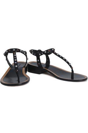 ISABEL MARANT Embellished leather sandals