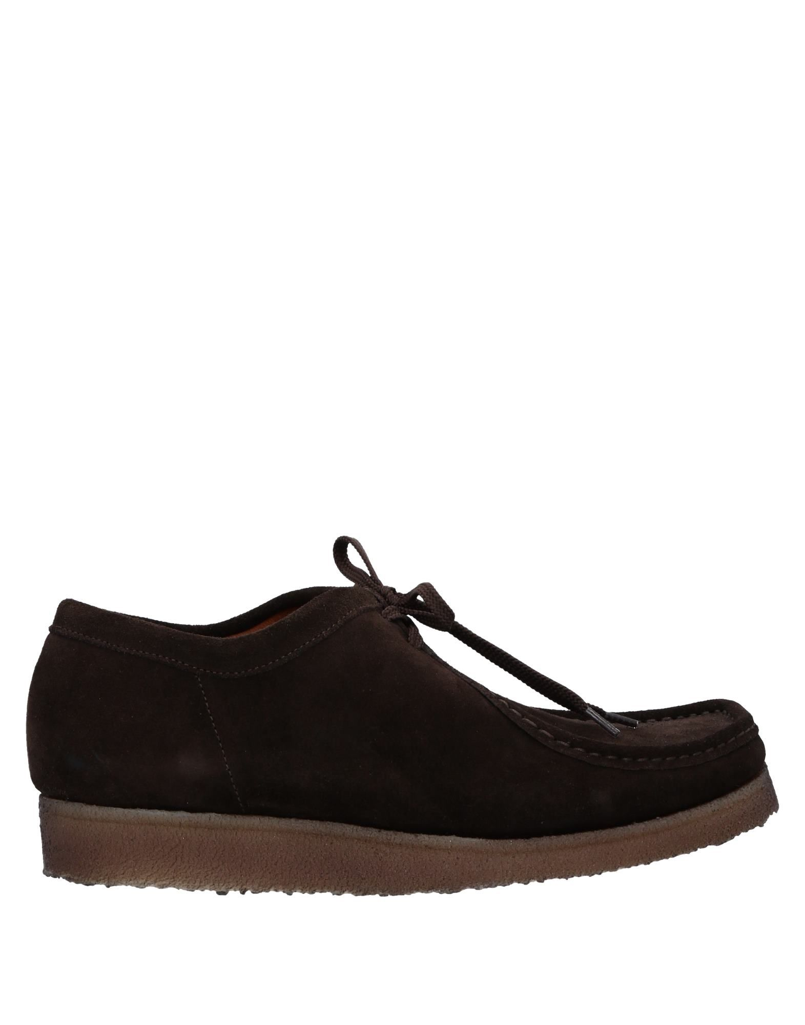 PADMORE & BARNES Laced Shoes in Dark Brown