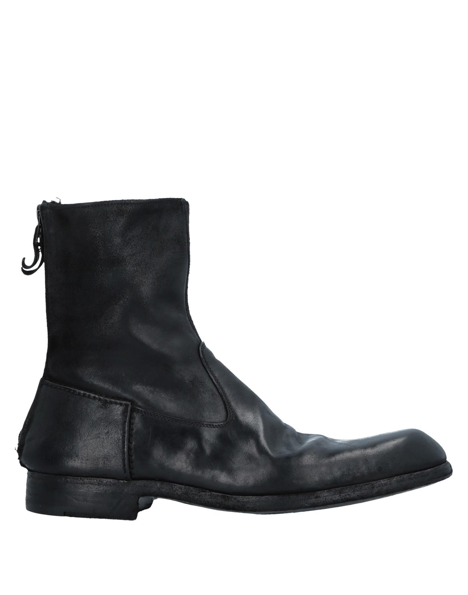 《送料無料》PREMIATA メンズ ショートブーツ ブラック 8.5 革