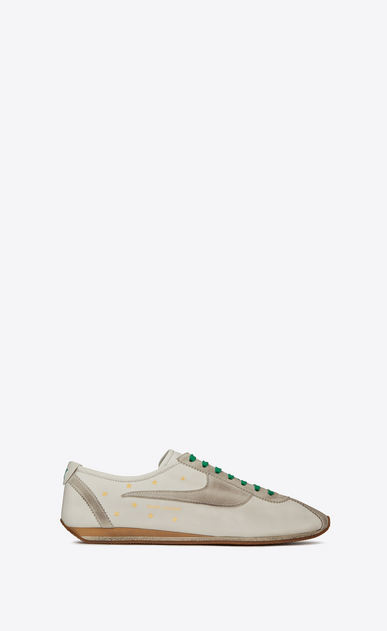 SAINT LAURENT Low Top Sneakers Man jay sneakers in leather and suede a_V4