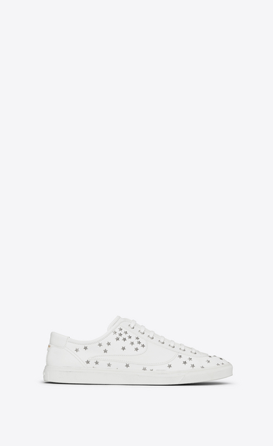 SAINT LAURENT Low Top Sneakers Man andy sneakers in leather and studs a_V4