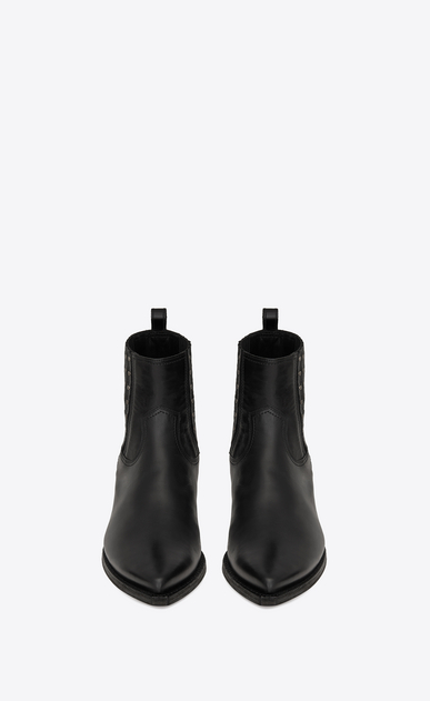 SAINT LAURENT Boots Man LUKAS boots in leather and studs b_V4