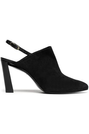 ROBERT CLERGERIE Suede slingback pumps