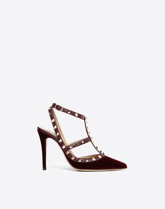 Velvet Rockstud Pump 100mm