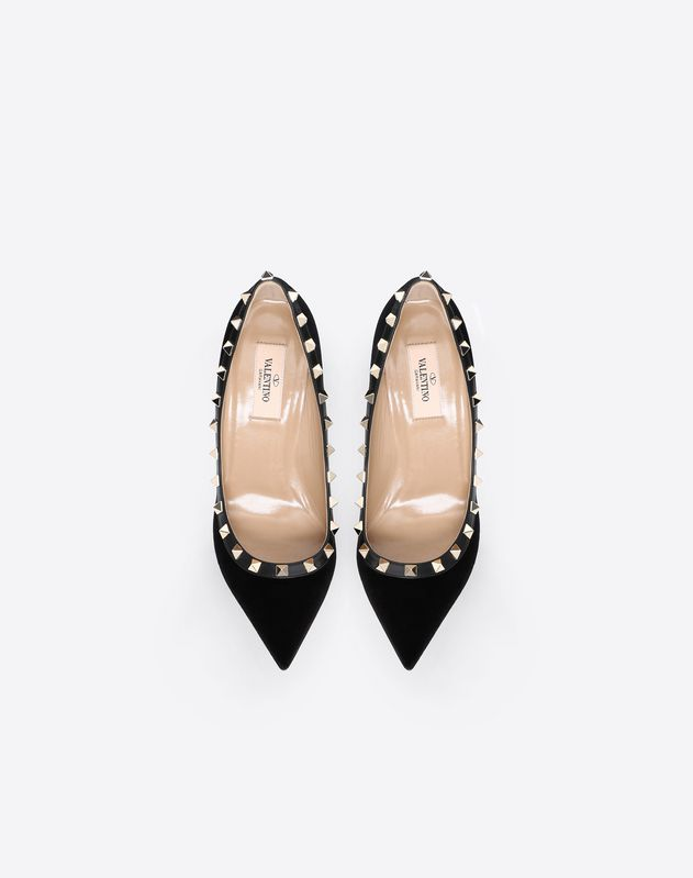 Velvet Rockstud Pump 85mm