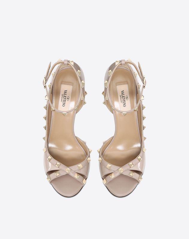 Patent Rockstud Sandal 100mm