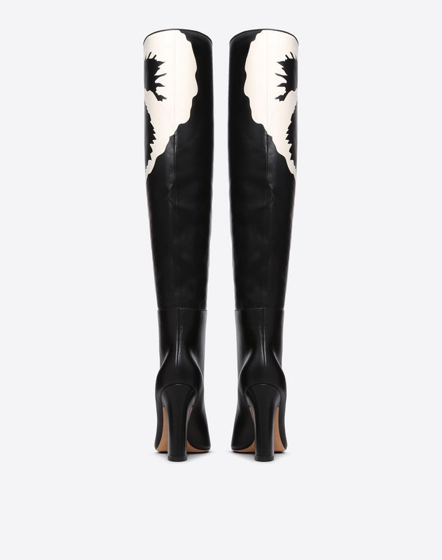 Flower Motif Knee High Boot 105mm