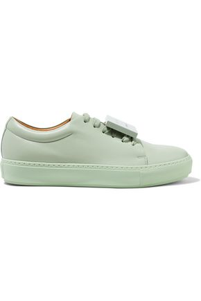 ACNE STUDIOS Adriana Turnup appliquéd leather sneakers