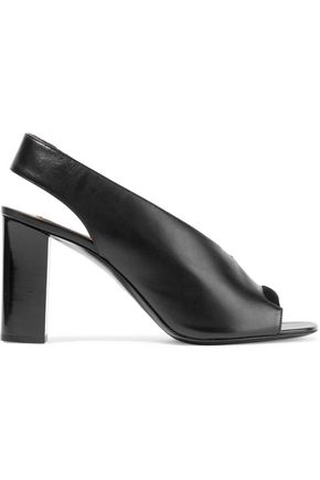 ACNE STUDIOS Abbie suede-trimmed leather slingback pumps