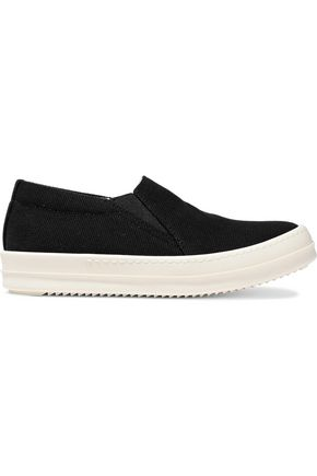 DRKSHDW by RICK OWENS Deck canvas slip-on sneakers