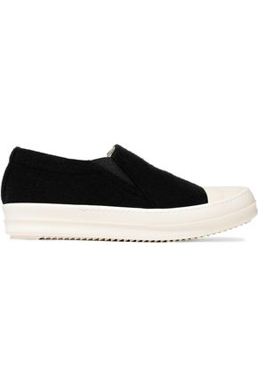 WOMAN BOAT KNITTED SLIP-ON SNEAKERS BLACK