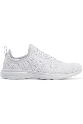 APL® ATHLETIC PROPULSION LABS Leather-trimmed jacquard-knit sneakers