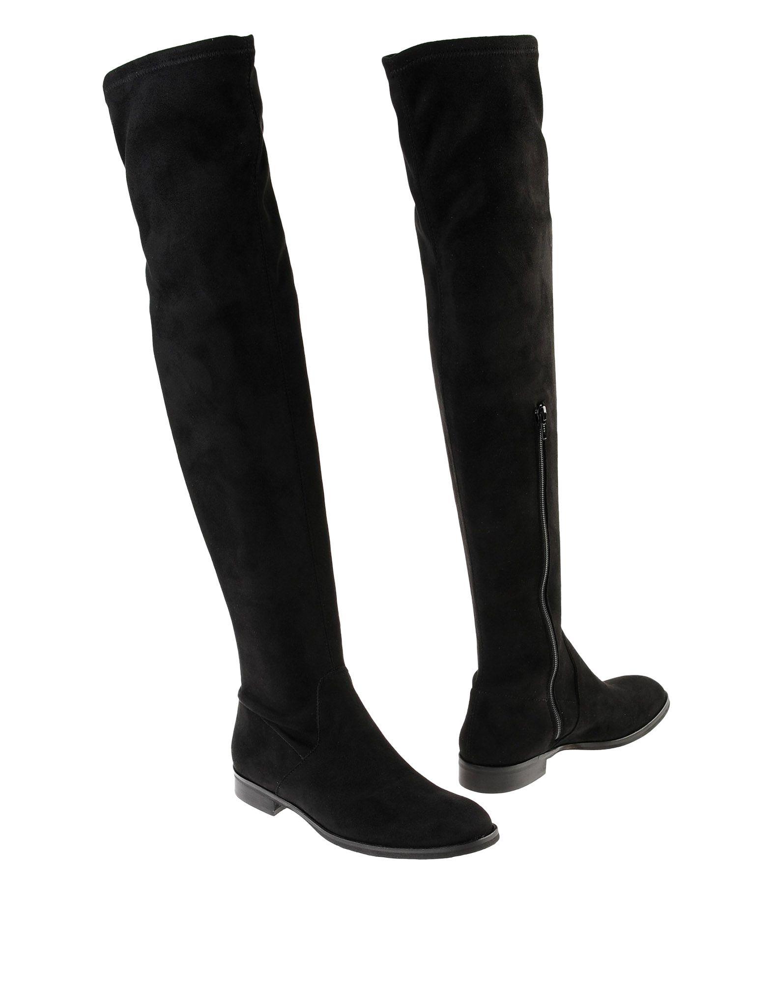 《セール開催中》FABRIZIO CHINI レディース ブーツ ブラック 37 紡績繊維 100%