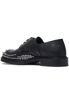 McQ Alexander McQueen Studded textured-leather brogues