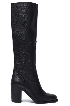 McQ Alexander McQueen Textured-leather boots